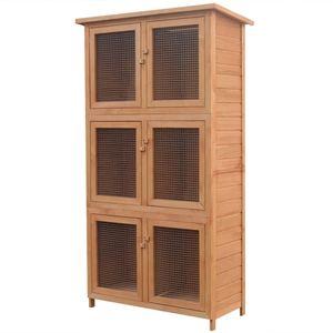 [BEST SELLER] Kleintier-/Kaninchenstall/Kleintierhaus//Kaninchenkäfig/Hasenkäfig/Kleintierkäfig Outdoor 6 Boxen Holz*4791