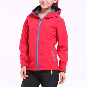 Mode Frauen einfarbige Jacken Windproof Plus Cashmere Zip Cardigan Coat Größe:XXXL,Farbe:Rot