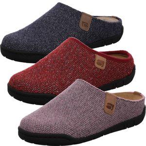 Rohde Damen Pantoffeln Hausschuhe Softfilz Mira 6631, Größe:37 EU, Farbe:Blau