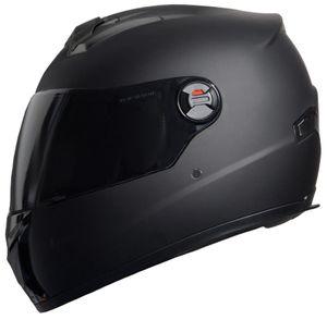 Motorradhelm Integralhelm M61 Helm Größe M Rollerhelm Sturzhelm matt schwarz getöntes Visier