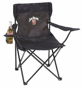 Jim Beam Camping-Faltstuhl mit Getränkehalter