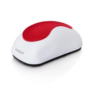 Lumaland magnetischer Whiteboard Schwamm mit fünf Auswechselpads aus Filz weiss / rot
