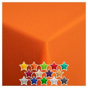 StoffTex Tischdecke Tischläufer Tischtuch Tischwäsche Tischdekoration Tafeltuch Farbe: Orange 100x100 cm