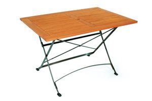 Merxx Schlossgarten Tisch - Farbe: schwarz/braun - Maße: 120 cm x 80 cm x 74 cm; 24244-217