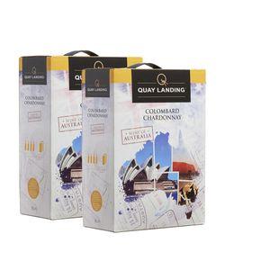 Weißwein Australien Colombard Chardonnay  Quay Landing  trocken (2x3,0l)