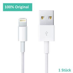 Original Apple Lightning Ladekabel 1 Meter für iPhone 5, 6, 7, 8, X, XR, 11, 11 Pro MD818ZM/A