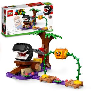 LEGO 71381 Super Mario Begegnung mit dem Kettenhund – Erweiterungsset, baubares Spiel mit Häcki Figur