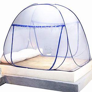 Pop Up Moskitonetz für Doppelbett, Large Portable Zelt Travel Doppeltür Reißverschluss Bettnetz, einfache Installation
