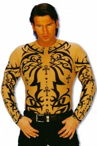 Tattoo-Shirt Tribal für Fasching & Karneval