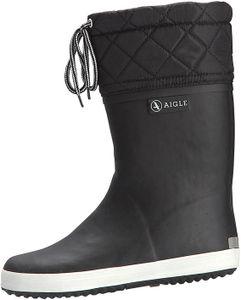 Aigle Giboulee Stiefel schwarz/weiß Gr. 29