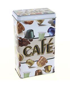 "KAFFEEDOSE ""cafe"" Metall 16cm Blechdose Dose Kaffee Vorratsdose Vintage Retro Metalldose 64"