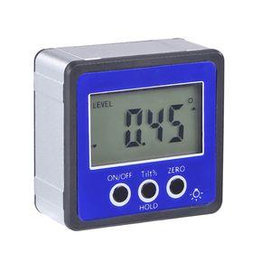 Horizontaler Winkelmesser Digitaler Winkelmesser Neigungsmesser Elektronische Nivellierbox Magnetfuss Messwerkzeuge Blau