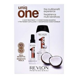 Revlon Uniq One Coconut Duo Pack Set - Hair Treatment 150ml + Conditioning Shampoo Coconut 300ml