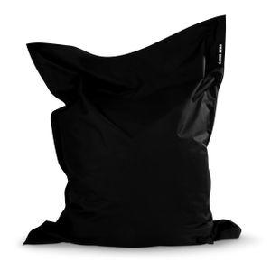 Green Bean © SQUARE XXL Riesensitzsack 140x180 cm - Indoor & Outdoor Sitzsack - Bean Bag Chair für Kinder & Erwachsene - Schwarz
