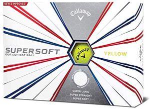 CALLAWAY SUPERSOFT 12er Set Golfbälle Gelb