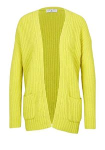 RICK CARDONA Damen Designer-Grobstrickjacke, lemongelb, Größe:48/50