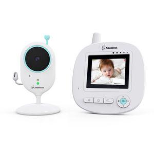 ANNEW Babyphone mit Kamera Video Audio Baby Monitor Temperatursensor Nachtsicht Wiegenlied Zwei-Wege-Gespräch (VB605-EU)