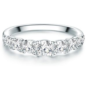 Ring Sterling Silber Zirkonia weiß 58