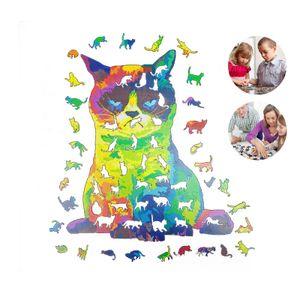 A3-schwierigstes unregelmäßiges Holzkatzenpuzzle ,DIY Holz Puzzle Für Erwachsene Kinder Holz Puzzles Tier Beste Geschenk Holz Puzzle für Kinder