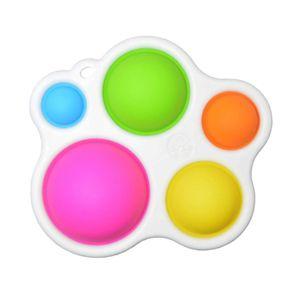 Silikon Zappeln Spielzeug Einfache Dimple Schlüssel Kette Stress Relief Angst Handheld Mini Sensorischen Spielzeug für Kinder Erwachsene