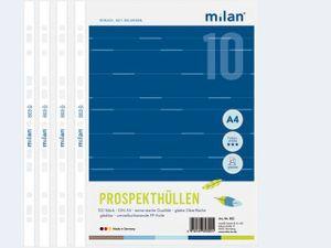 Milan 100 ProspekthüllenA4 PP 803 glatt im Karton