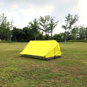 Ultraleichtes Campingzelt Wasserdichtes tragbares Shelter Zwei-Personen-Rucksackzelt