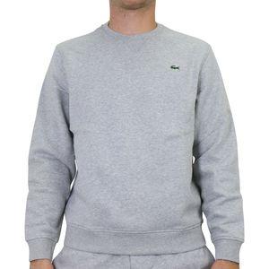 Lacoste Fleece-Sweatshirt Herren Hellgrau (SH1505 9YA) Größe: 6 (XL)