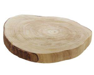 """Deko Scheibe """"Wood"""", Ø 40 x 5 cm, Baumscheibe, Servier Teller / Platte"""