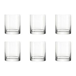 LEONARDO 039614 Easy+ Wasser Becher Maxi, Glas, 280 ml, H 8,8 cm, klar (6 Stück)