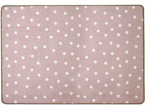 Kinderteppich Punto - Pastell Rosa, Weiß Gepunktet, 100x150m, Kinderzimmer, Hochwertiger, Pflegeleichter Spielteppich für Mädchen & Jungen