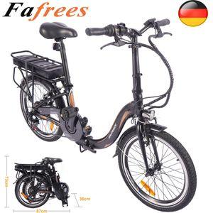 FAFREES Klappfahrrad Mountainbike Ebike E-Bike Citybike Elektro E bike Klapprad Faltrad Trekkingrad Elektrofahrräder Tragbar250W 25km/h 7,5Ah lithium-ion Akkux`