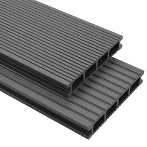 SIRUITON WPC Terrassendielen mit Zubehör 20 m2 4 m Grau