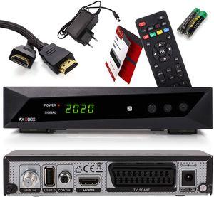 CYE Opticum SBOX - PVR Aufnahmefunktion Timeshift - Multimedia - 1080P Digital HDTV Sat-Receiver für Satellitenfernseher - Astra Hotbird vorinstalliert - HDMI, SCART, USB, DVB-S/S2 + HDMI Kabel