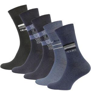 VCA® Baumwoll Socken 10 Paar Blautöne 43-46