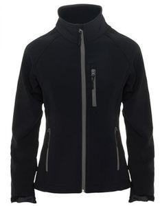 Damen Antartida Softshell Jacket, 2-lagig - Farbe: Black 02 - Größe: XL
