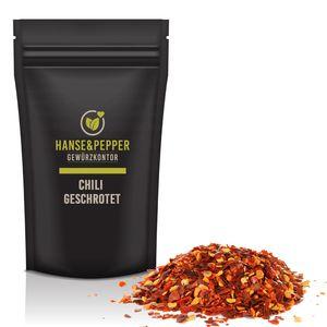 500g Chili geschrotet Chilli Flocken scharf mit Kernen in Spitzenqualität - Gourmet Serie