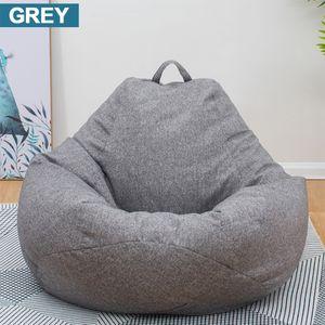 100*120CM No Filling Sitzsack Sofa Gaming Sessel Stuhl Gammer Sitzkisse Sack -Grau