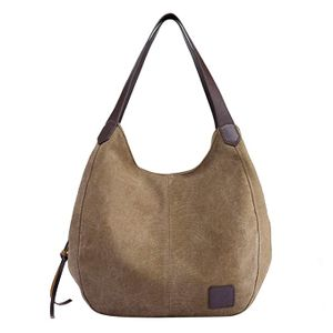 Damen Mädchen Modern Canvas Shopper Schultertasche Handtasche Henkeltasche Hobo Bag Beuteltasche