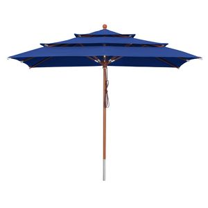 Sonnenschirm 3-lagig 3 x 3 m Blau - Blau