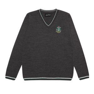 Harry Potter - Slytherin House Pullover für Damen PG1028 (2XL) (Anthrazit)