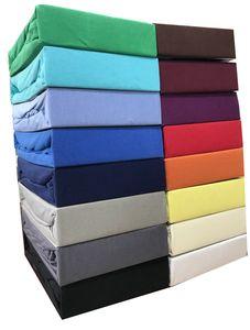 Spannbettlaken 100% Baumwolle Jersey 120x200 cm - 130x200 cm grau
