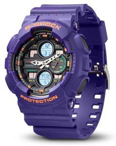 G-Shock Uhr GA-140-6AER Casio Armbanduhr lila