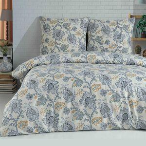 Bettwäsche 155x220 cm 4 teilig 100% Baumwolle  Renforce Reißverschluss 2 x Bettwäscheset und 2 x Kissenbezüge