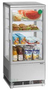 Mini-Kühlvitrine 78 Liter, silber