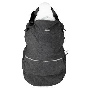 "Hoppediz® Fleece-Cover ""Basic"" - wärmendes Tragecover für kalte Wintertage, Design: anthrazit"