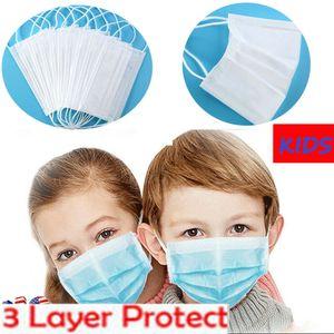 50 Stück Kindermaske Kind 3-lagiger Einweg-Gesichtsmaskenschutz