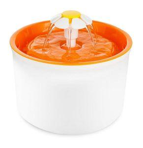 PETGARD Trinkbrunnen Little Flower für Tiere weiß-orange 1,6 Liter