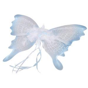Feenflügel Blau Fee Flügel Feenkostüm Kinder Mädchen Kostüm Zubehör