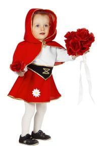 Wilbers & Wilbers Rotkäppchen Kostüm Märchen Rotkäppchenkostüm Grimm Böser Wolf Mädchen Baby Kind Rot/Weiß/Schwarz 92