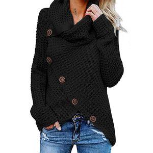 Damen Langarm Rollkragenpullover mit Rollkragen,Farbe: schwarz,Größe:M